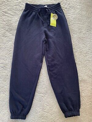 Tu Sainsburys Boys Cotton Rich Joggers Navy (New With Tags)