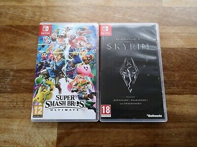 Smash Bros Ultimate & Skyrim Nintendo Switch Bundle *Great Value, Secure Post!*
