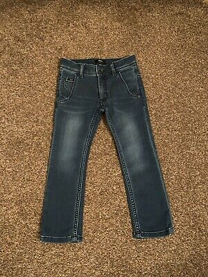 Designer Hugo Boss Boys Jeans Age 4 Years Blue Super Slim Fit VGC