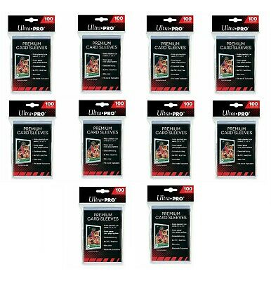 1000 Ultra PRO Premium Soft Sleeves Platinum Card Protectors Standard 10 x 100ct