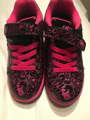Uk Size 3 Girls Pink And Black Heelys