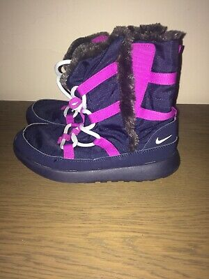 Girls Nike Snow Boots  Trainer Boots Size 1 Blue Worn Once