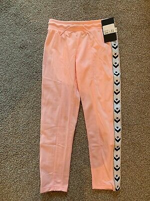 Converse Girls Pink Tracksuit Bottoms Aged 8-10 Years Bnwt