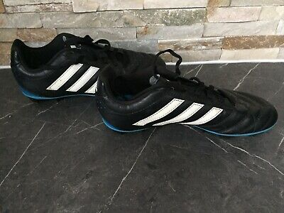 Adidas Boys Girls Football Boots With Studs Junior UK 3 Black Blue Sports PE