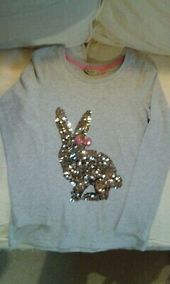 Girls Next Sequin Bunny Rabbit T Shirt Top Age 10 Years IMMACULATE!!