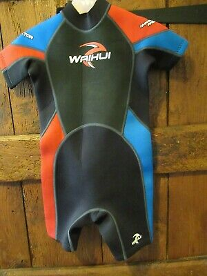 Waihui Childs Unisex [Girls or Boys] Wetsuit Age 7-8 Years EX COND