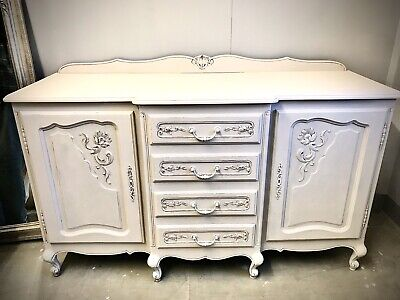 French Carved Antique Buffet Sideboard Chest Of Drawers Cupboard.