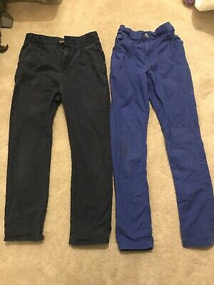 2 Pairs Boys Age 10 (9-10 Years ) Next Skinny  And M&S Chinos Trousers