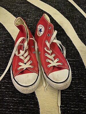 RED CONVERSE HIGH TOPS Size Uk 2