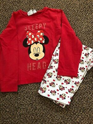 Girls Disney Minnie Mouse Pyjamas Age 3-4