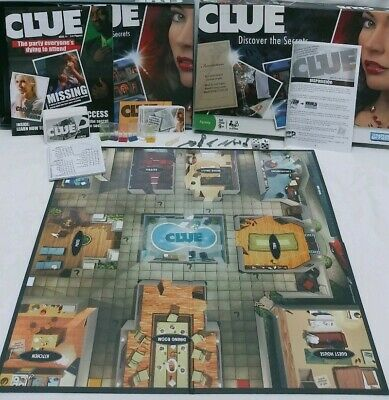 Vintage Games Clue Discover The Secrets Board Game Parker Brothers 2008