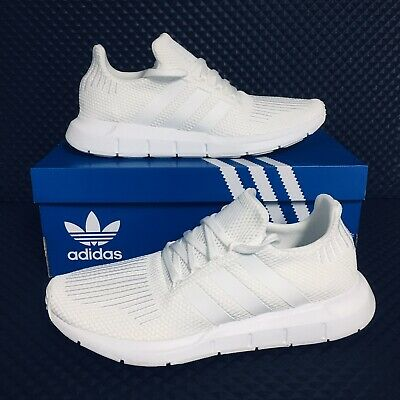 *NEW* Adidas Originals Swift Run MEN's Athletic Running Shoes All White Sneakers