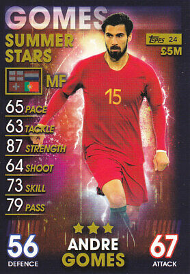 TOPPS MATCH ATTAX 101 - 2019 - Andre Gomes - Portugal - # 24 - SUMMER STARS