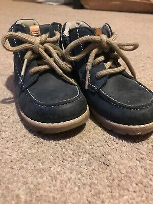 Infant Boys CLARKS  Blue Ankle Boots - Size 6G - Good condition
