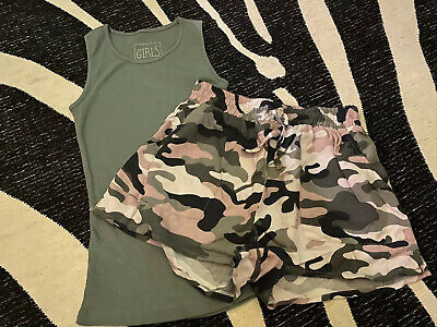 Gorgeous Girls Camo Shorts Set Age 8-10 Yrs