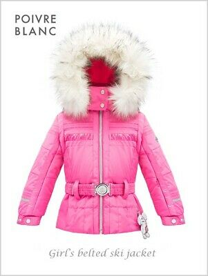 Poivre Blanc Girls Ski Jacket 4 years/104cm Bright Pink Brand New  Tags RRP £195