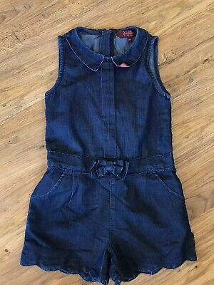 Girls Ted Baker Denim Jump Suit Age 3-4 Years
