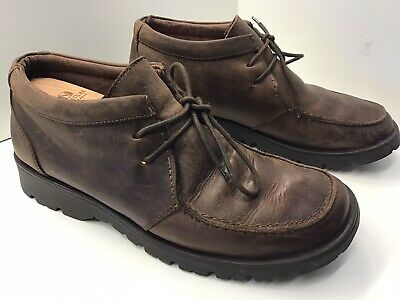 CLARKS Brown Leather Mens Ankle Outdoor Boots Lace-Up Shoes Size 10 UK 44 EU