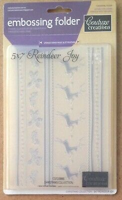 """COUTURE CREATIONS Serenity Collection BOUQUET Embossing Folder 723151 7/"""" x 5/"""""""