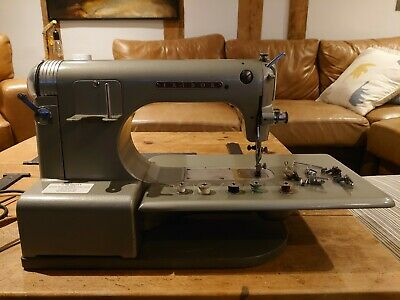 Fridor Stitchmaster Sewing Machine 1950's. With instructions / accessories.