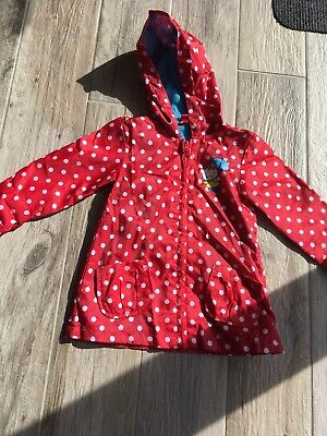 Girls Hello Kitty Red Spotted Rain Coat Jacket Age 18-24 Months
