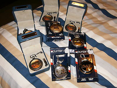 Puriton Pocket Watches Eight In Total Bnib