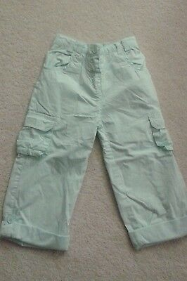 Girls Matalan Mint Green/Pale Aqua Soft Trousers age 3-4 years IMMACULATE!!