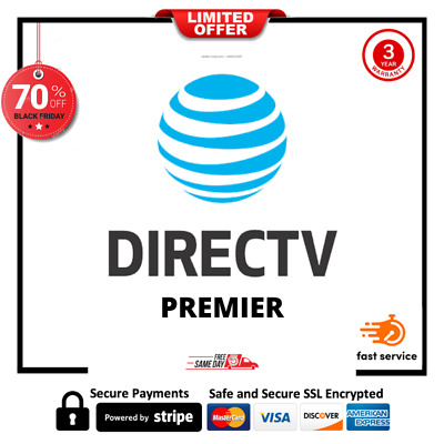 DIRECT TV PREMIUM PACKAGE  330+CHA 3YEARS WARRANTY ✔️ Fast DELIVERY