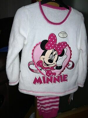 Minnie Mouse Pyjamas Fleecy Top Snuggle Fit Bottoms 4 - 5 Years  BNWT Brand New