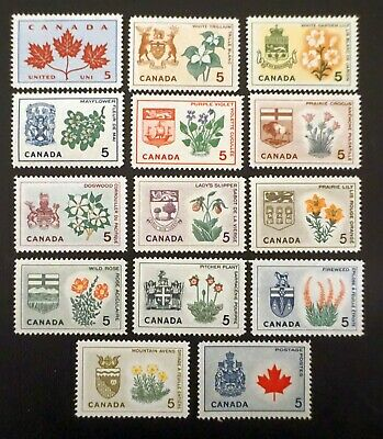 Canada  Sc# 417-429a Complete Set of 14 PROVINCIAL FLOWERS   1964  MINT MNH
