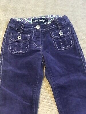 Mini Boden Girls Velvet / Moleskin Trousers, Age 4 Purple - VGC!