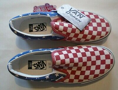 VANS SLIP ON Van Doren Stars And Stripes Checkered USA