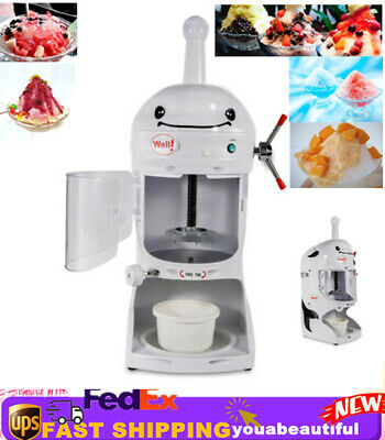 Commercial Ice Shaver Snow Cone Machine Shaved ice Drink Maker Crusher Instrumen
