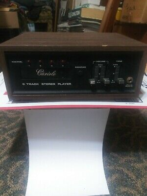 Cariole 8 Track Stereo Player (model 19860) channel 4 program some wear & tear