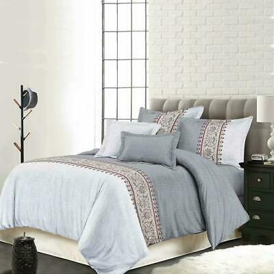 Single/KS/Double/Queen/King/Super K Soft Quilt/Duvet Cover Set-Bohemian Grey