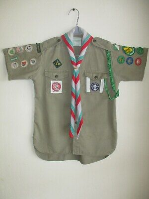 Boy Scout shirt & scarf - Australian badges patches Baden-Powell Wolf Cubs