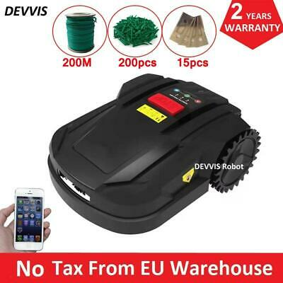 New 7th Gen Intelligent Lawn Mower Robot H750 With WiFi App Control, 2.2AH Li-io