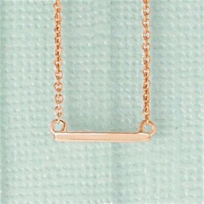 "Bar Necklace Petite In 14kt Rose Yellow or White Gold Adjustable 16-18"" Chain"