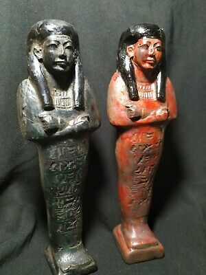 The statues of the servants of Ancient Egypt..Two pieces
