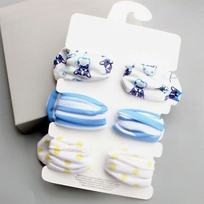 3 Newborn Headband Cotton Elastic Baby Print Floral Hair Band Girls Bow-knot