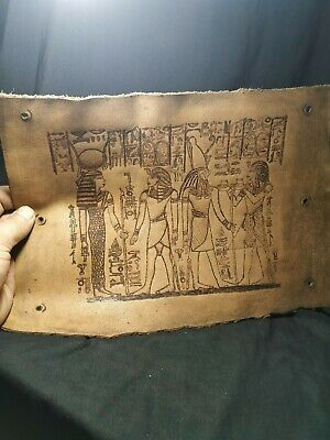 leather.  Pharaonic is very rare.. 3