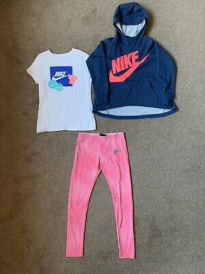 Nike Air Girls Outfit Leggings Hoodie And T-shirt Aged 8-10 Years