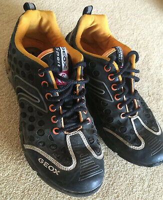 GEOX Respira Boys Shoes / Trainers Size UK2.5/Eur35 Leather Inner - Breathable