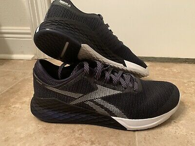 Reebok CrossFit Nano 9 size 11.5 Worn 1 Time! Dark Blue / White.