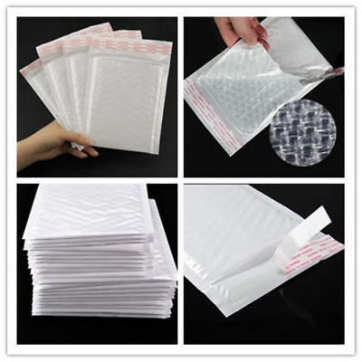 10p Chic White Poly Bubble Mailers Padded Envelopes Self Seal Bag 4.3*4.3inch gG