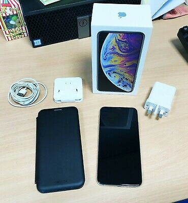 Apple iPhone XS Max - 512GB - Silver (Unlocked) A2101 (GSM) in original box