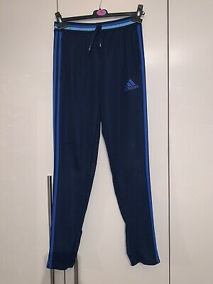 Adidas Climacool Boys Skinny Tracksuit Joggers Bottoms Trousers 13- 15years
