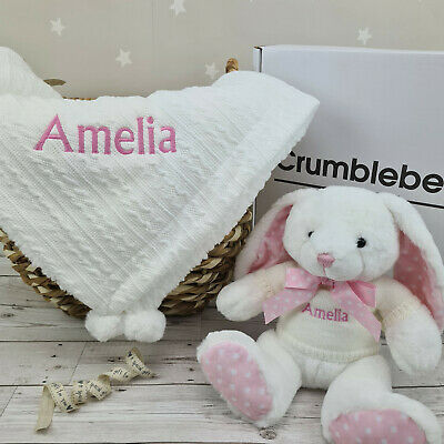 Baby Boy Girls Blanket and Toy Gift Set. Ideal Baby Shower, Newborn, Maternity