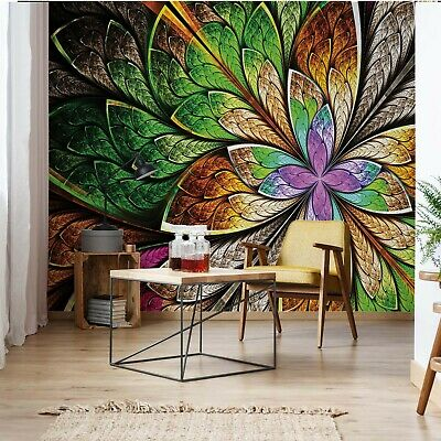 Abstract Colourful Design Photo Wallpaper Wall Mural Fleece Easy-Install Paper