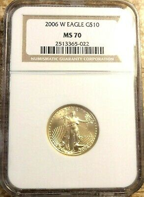 2006 1/4th oz $10 Gold Eagle NGC MS70